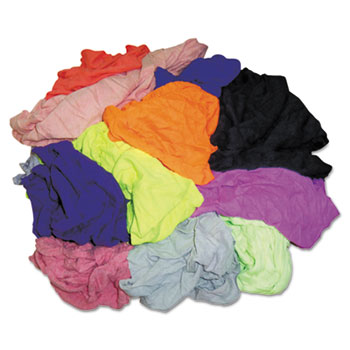 Hospital Specialty Co. Polo T-Shirt Rags, Assorted Colors, 10 Pounds/Bag
