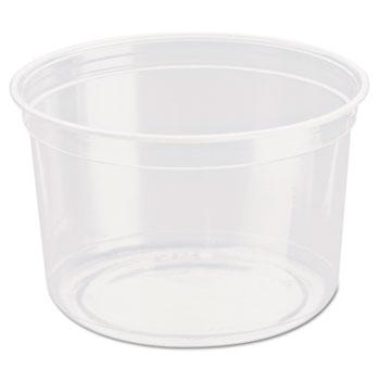 SOLO® Cup Company Bare Eco-Forward RPET Deli Containers, 16 oz, Clear, 500/Carton