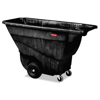 Rubbermaid® Commercial Structural Foam Tilt Truck, Rectangular, 850 lb. Cap., Black