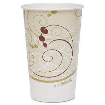 SOLO® Cup Company Paper Cold Cups, 16 oz., Symphony Design, 50/Bag