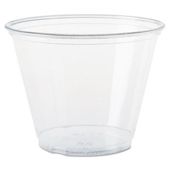 Ultra Clear Cups, Squat, 9 oz, PET, 50/Bag, 1000/Carton