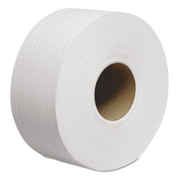 "Tradition JRT Jumbo Roll Bathroom Tissue, 2-Ply, 8 9/10"" dia, 1000ft, 12/Carton"