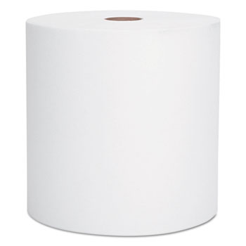 "Scott® Hard Roll Towels, 8 x 950', 1 3/4"" Core, White, 6 Rolls/Carton"