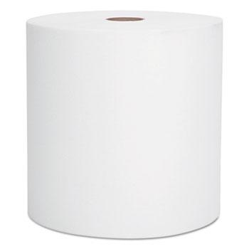 High-Capacity Hard Roll Towels, 8 x 1000', White, 12 Rolls/Carton