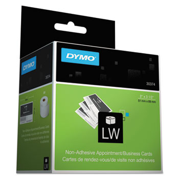 DYMO® LabelWriter Business/Appointment Cards, 2 x 3 1/2, White, 300 Labels/Roll