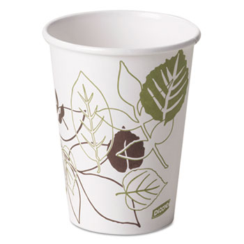 Pathways Paper Hot Cups, 12oz (Fits Large Lids), 50/Pack