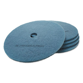 3M™ Ultra High-Speed Floor Burnishing Pads 3100, 27-Inch, Aqua