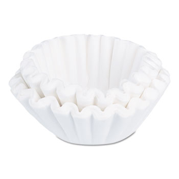 BUNN® Flat Bottom Funnel Shaped Filters, for BUNN Sys III Brewer, 504/PK