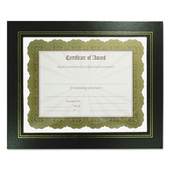 NuDell™ Leatherette Document Frame, 8-1/2 x 11, Black, Pack of Two