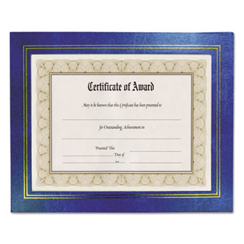 NuDell™ Leatherette Document Frame, 8-1/2 x 11, Blue, Pack of Two