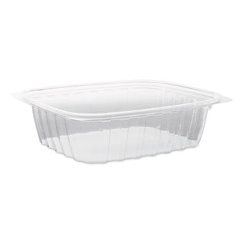 Dart® ClearPac Plastic Container with Lid, 7-1/2 x 6-1/2 x 2, Clear, 24 oz, 63/Bag