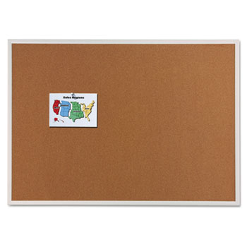 Classic Cork Bulletin Board, 96 x 48, Silver Aluminum Frame