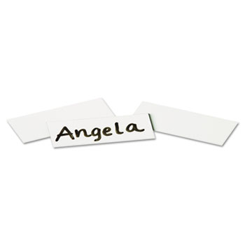 Magnetic Write-On/Wipe-Off Strips, 2w x 7/8h, White, 25/Pack