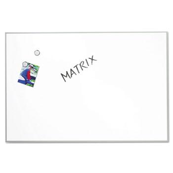 Quartet® Matrix Magnetic Boards, Painted Steel, 34 x 23, White, Aluminum Frame