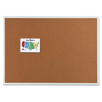 Quartet® Classic Cork Bulletin Board, 48 x 36, Silver Aluminum Frame