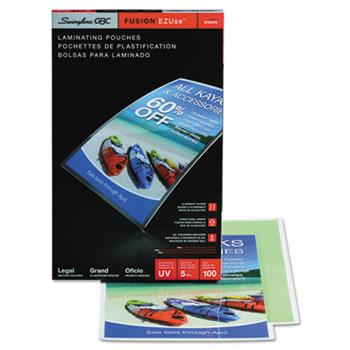 GBC® Fusion EZUse Premium Laminating Pouches, 5 mil, 9 x 14 1/2, 100/Box