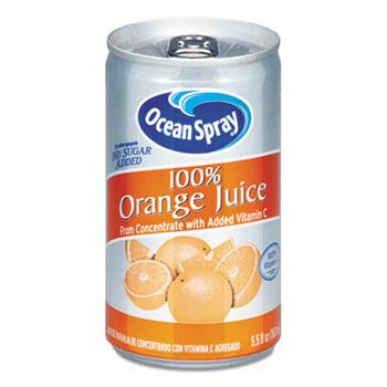 Ocean Spray® 100% Orange Juice, 5.5 oz. Can, 48/CT