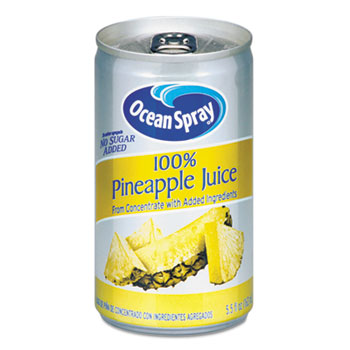 100% Pineapple Juice, 5.5 oz. Can, 48/CT
