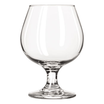 Libbey Embassy Brandy Glasses, 11.50 oz, Clear, Glass, 12/CT