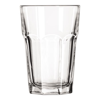"Libbey Gibraltar Glass Tumblers, Beverage, 14oz, 5 1/8"" Tall, 36/Carton"
