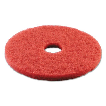 Premiere Pads Standard 14-Inch Diameter Buffing Floor Pads, Red