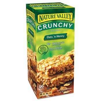 Granola Bars, Oats & Honey, 1.5 oz Bar, 48/Carton