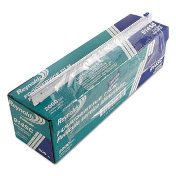 "Reynolds® PVC Food Wrap Film Roll in Easy Glide Cutter Box, 18"" x 2000 ft, Clear"