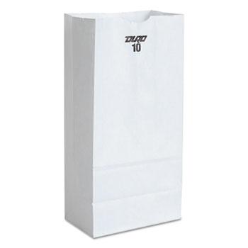 General #10 Paper Grocery Bag, 35lb White, Standard 6 5/16 x 4 3/16 x 13 3/8, 500 bags