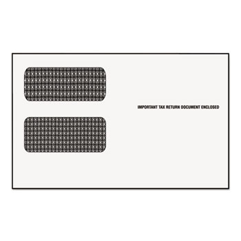 """Double Window Tax Form Envelope/1099R/Misc Forms, 9"""" x 5-5/8"""", 24/PK"""