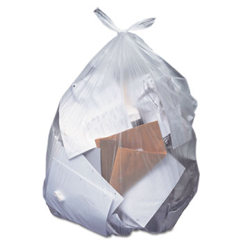 Low-Density Can Liners, 12-16 gal, .35 mil, 24 x 32, Clear, 500/Carton