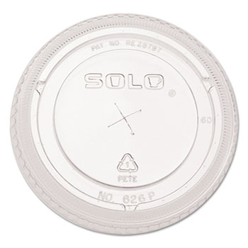 SOLO® Cup Company Ultra Clear Dome Cold Cup Lids f/16-24 oz Cups, PET, 1000/CT