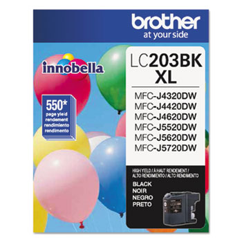 Brother LC203BK Innobella High-Yield Ink, Black