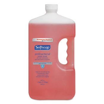Antibacterial Hand Soap, Crisp Clean, Pink, 1 gal. Bottle, 4/Carton