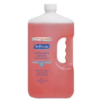Softsoap® Antibacterial Hand Soap, Crisp Clean, Pink, 1 gal. Bottle, 4/Carton