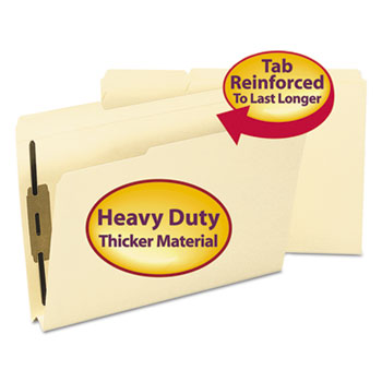 Smead® 1 1/2 Inch Expansion Folders, Two Fasteners, 1/3 Top Tab, Legal, Manila, 50/Box