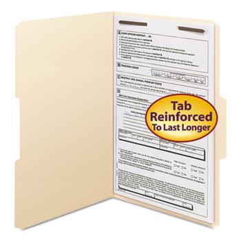 Smead® Folders, One Fastener, 1/3 Cut Assorted, Top Tab, Legal, Manila, 50/Box