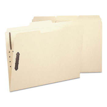 Smead® Poly Folder, Two Fasteners, 1/3 Cut Top Tab, Letter, Manila, 24/Box