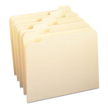 Smead® File Folders, 1/5 Cut, One-Ply Top Tab, Letter, Manila, 100/Box