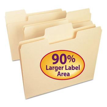 SuperTab File Folders, 1/3 Cut Top Tab, Letter, Manila, 100/BX