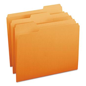 Smead® File Folders, 1/3 Cut Top Tab, Letter, Orange, 100/Box