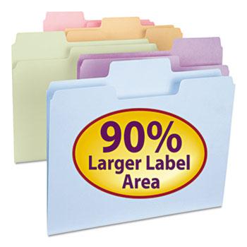 Smead SuperTab File Folders, 1/3 Cut Top Tab, Letter, Assorted Colors, 100/Box