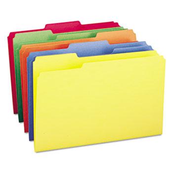 Smead® File Folders, 1/3 Cut Top Tab, Legal, Assorted Colors, 100/Box