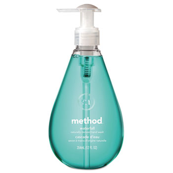 Method® Gel Hand Wash, Waterfall, Teal, 12 oz. Bottle