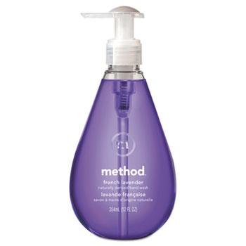 Gel Hand Wash, French Lavender Liquid, 12 oz. Bottle, EA
