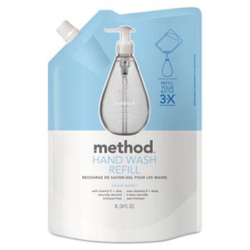 Method® Gel Hand Wash Refill, 34 oz., Plastic Pouch, Sweet Water