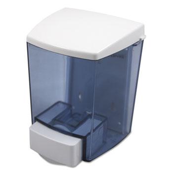 Impact® ClearVu Liquid Soap Dispenser, 30oz, 4 1/2w x 4d x 6 1/4h, Black/White