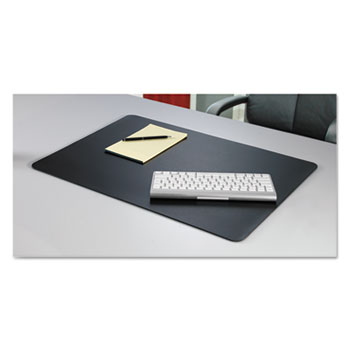 Rhinolin II Desk Pad with Antimicrobial Protection 36 x 24, Black