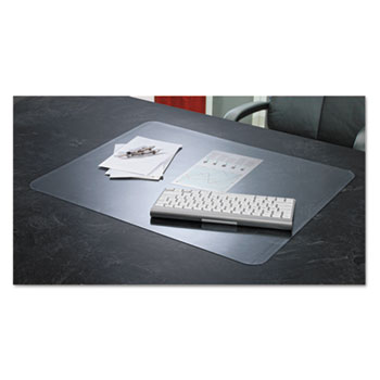 Artistic® KrystalView Desk Pad with Antimicrobial Protection, Glossy, 38 x 24, Clear