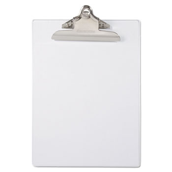 "Recycled Plastic Clipboards, 1"" Capacity, Holds 8 1/2w x 12h, Clear"