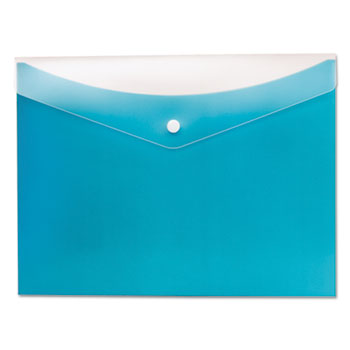 Poly Snap Envelope, Letter, Blueberry